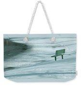 Wintry Riverside Weekender Tote Bag