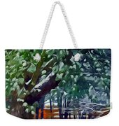 Wintry  Snowy Trees Weekender Tote Bag
