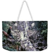 Wirt At Falls In Bc Weekender Tote Bag