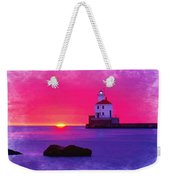 Wisconsin Point Lighthouse Weekender Tote Bag