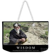 Wisdom Inspirational Quote Weekender Tote Bag by Stocktrek Images