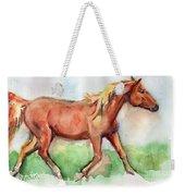 Horse Painted In Watercolor Wisdom Weekender Tote Bag