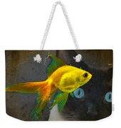 Wishful Thinking - Cat And Fish Art By Sharon Cummings Weekender Tote Bag