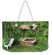 Wishing Well And Cat Weekender Tote Bag