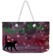 Wishing You All A Purrfect Xmas... Weekender Tote Bag