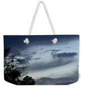 Wispy Clouds One December's Eve Weekender Tote Bag