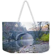 Wissahickon Creek And Valley Green Bridge Weekender Tote Bag