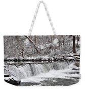Wissahickon Waterfall In Winter Weekender Tote Bag