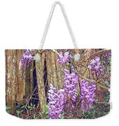 Wisteria And Old Fence Weekender Tote Bag
