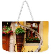 Wisteria And Yellow Wall In Alsace France Weekender Tote Bag