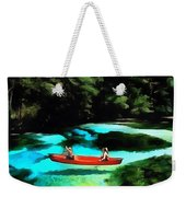 With A Paddle Weekender Tote Bag