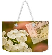 With God All Things Are Possible Weekender Tote Bag