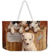 With Hearty Good Wishes Weekender Tote Bag