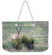 Without Faith Weekender Tote Bag