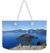 Wizard Island Crater Lake Oregon Usa Weekender Tote Bag