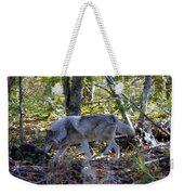 Wolf In The Woods Weekender Tote Bag
