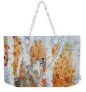 Wolf Call Weekender Tote Bag