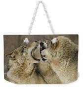 Wolf Display Weekender Tote Bag