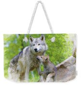 Wolf Of Minnesota Weekender Tote Bag