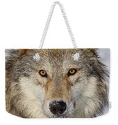 Wolf Face To Face Weekender Tote Bag