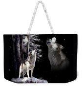 Wolf  Howling Memory Weekender Tote Bag