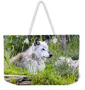 Wolf In The Grass Weekender Tote Bag