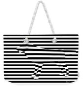 Wolf Optical Illusion Weekender Tote Bag