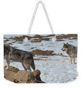 Wolf Pair Weekender Tote Bag