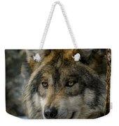 Wolf Upclose 2 Weekender Tote Bag
