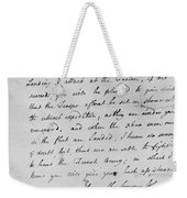 Wolfe Letter, 1759 Weekender Tote Bag