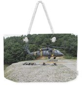 Wolfhounds Air Assault From A Uh-60 Weekender Tote Bag