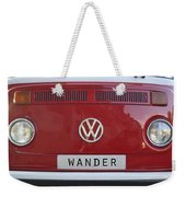 Wolkswagen Combi Red Weekender Tote Bag