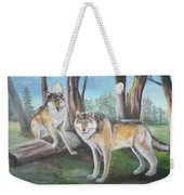 Wolves In The Forest Weekender Tote Bag