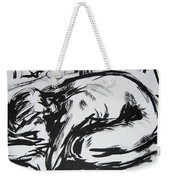 Woman Alone With Shadows Weekender Tote Bag