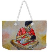 Woman And Child Weekender Tote Bag