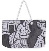 Woman And Her Son Are Coming From Farm Weekender Tote Bag