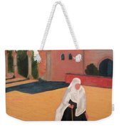 Woman At The Wall Weekender Tote Bag