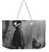 Woman Boxing Workout Weekender Tote Bag by Underwood Archives
