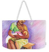 Woman Breastfeeding Bay In Rwanda Weekender Tote Bag
