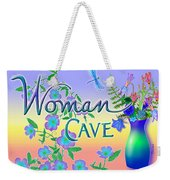 Woman Cave With Dragonfly Weekender Tote Bag