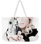 Woman Defense Weekender Tote Bag