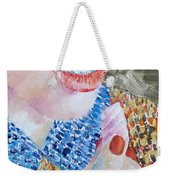 Woman Eating Marshmallow- Oil Portrait Weekender Tote Bag