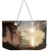 Woman Exhalation Weekender Tote Bag