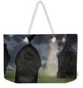 Woman Haunting Cemetery Weekender Tote Bag by Amanda Elwell
