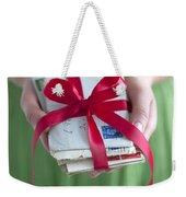 Woman Holding A Bundle Of Love Letters Weekender Tote Bag