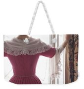 Woman In 18th Century Dress At The Window Weekender Tote Bag