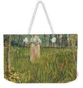 Woman In A Garden Weekender Tote Bag by Vincent van Gogh