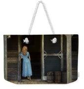 Woman In Cabin Doorway Weekender Tote Bag