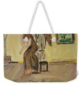 Woman In The Art Gallery Weekender Tote Bag