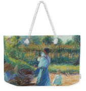 Woman In The Garden Weekender Tote Bag